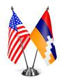 USA and Nagorno-Karabakh - Miniature Flags. - PhotoDune Item for Sale