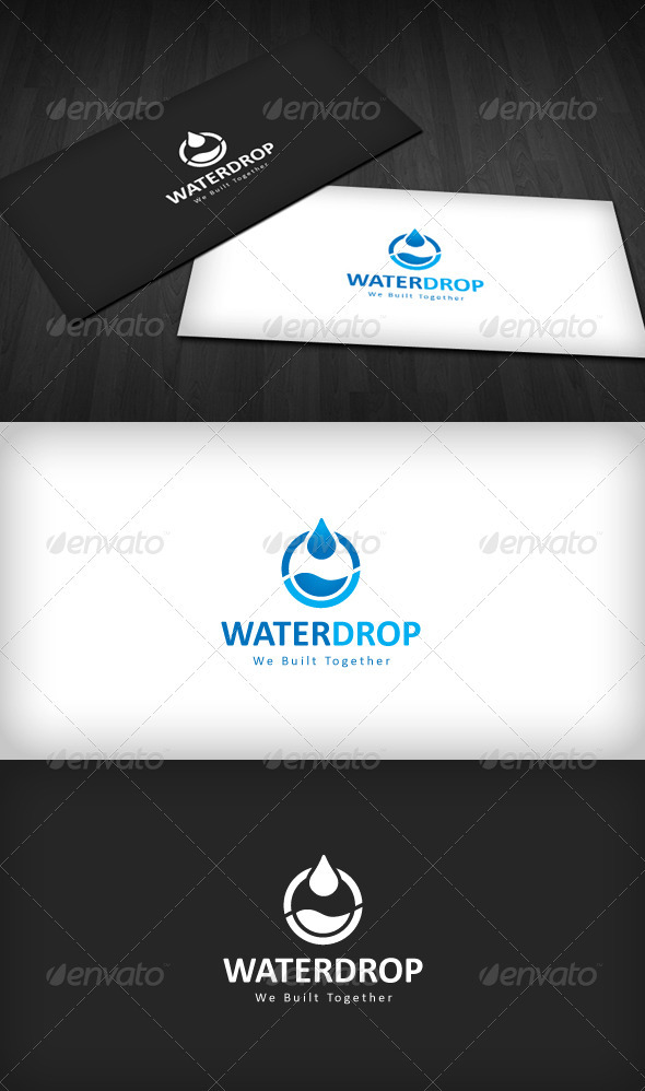 GraphicRiver Water Drop Logo 1096787