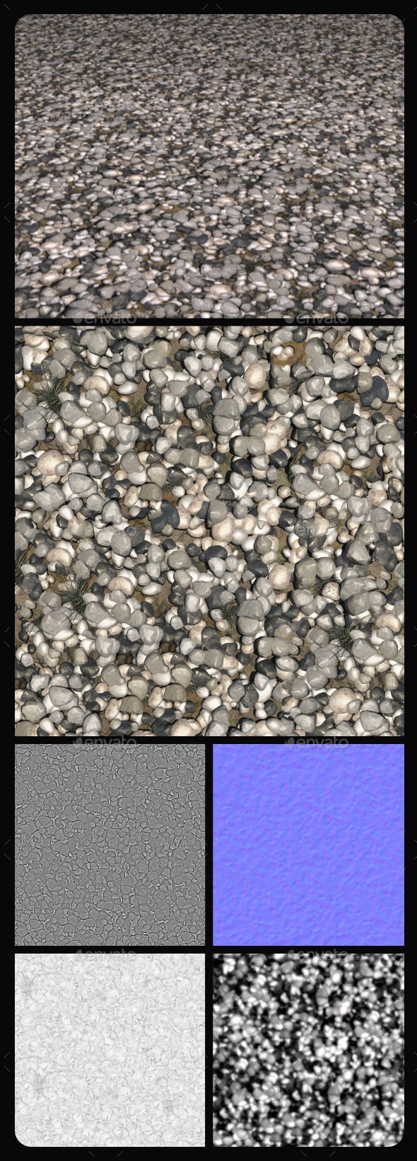 Ground Rocks Hi-Res Texture Tile - 3DOcean Item for Sale