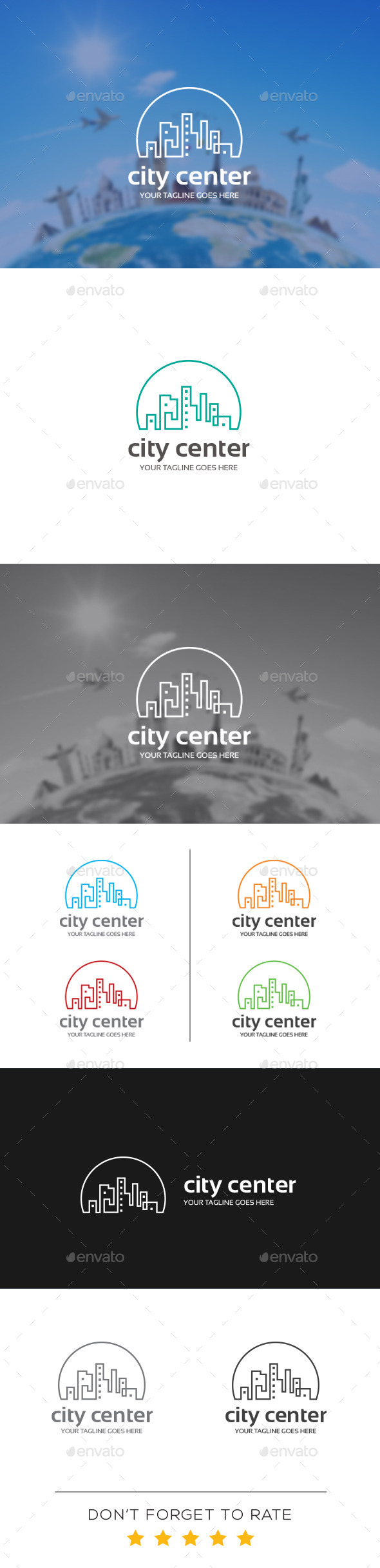 GraphicRiver City Center Logo Template 10939346
