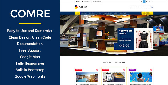 ThemeForest Comre Coupon & Offers HTML Template 10911758