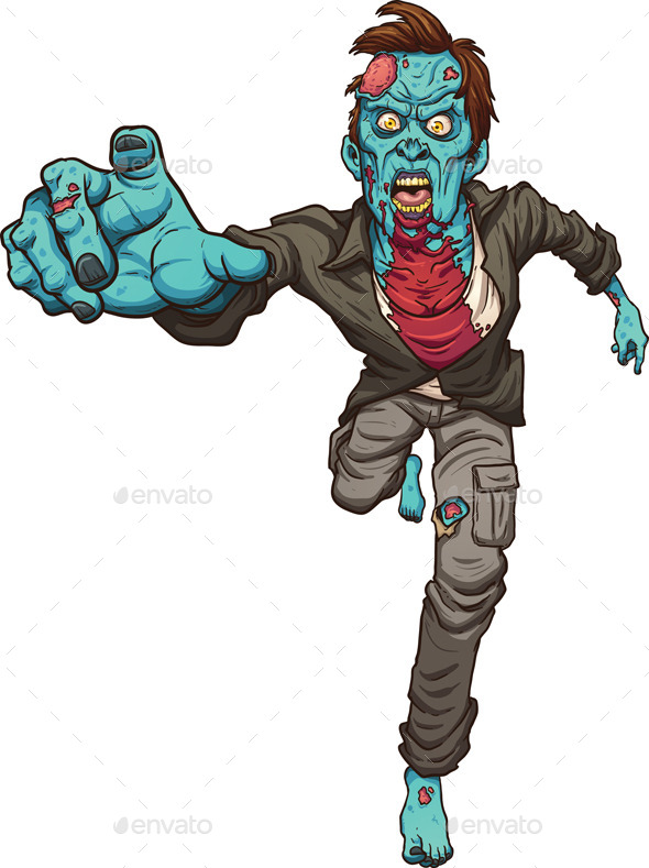 GraphicRiver Running Zombie 10939530