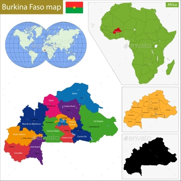 GraphicRiver Burkina Faso Map 10939557