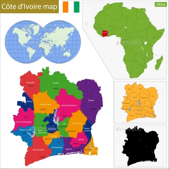 GraphicRiver Ivory Coast Map 10939566