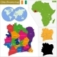Ivory Coast Map - GraphicRiver Item for Sale