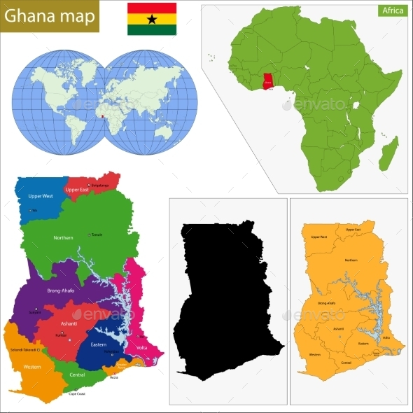 GraphicRiver Ghana Map 10939579