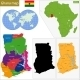 Ghana Map - GraphicRiver Item for Sale