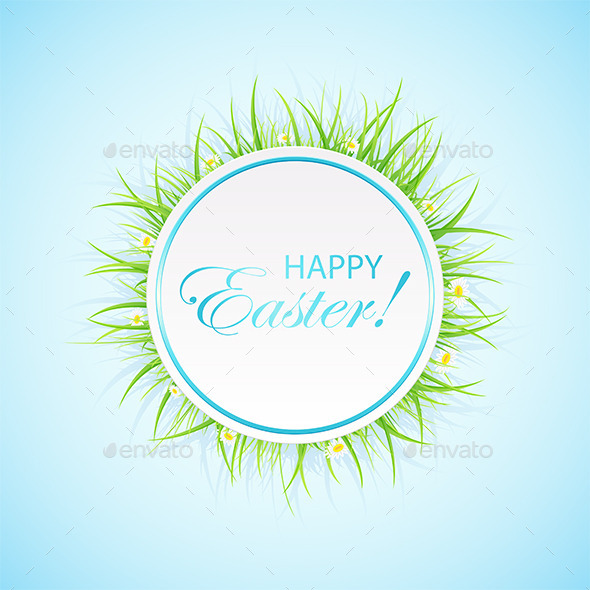 GraphicRiver Easter Banner with Grass 10939587