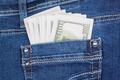 Dollars in jeans pocket - PhotoDune Item for Sale