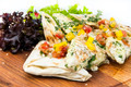 pita bread with vegetables on a plate in a restaurant - PhotoDune Item for Sale