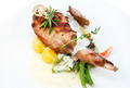 roasted rabbit meat and potatoes with vegetables - PhotoDune Item for Sale