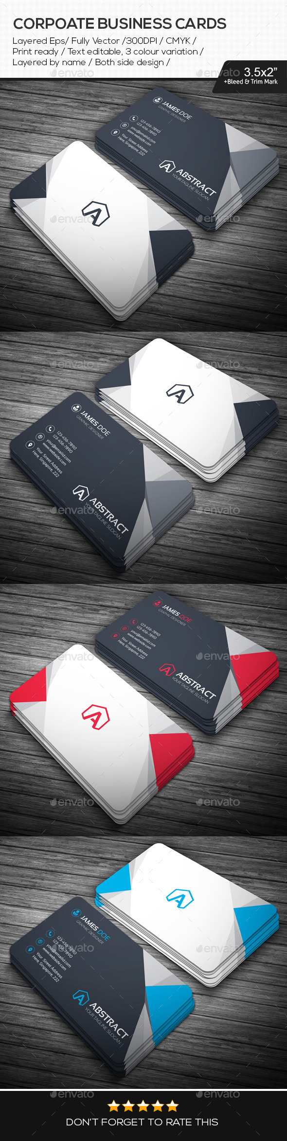 GraphicRiver Corporate Business Cards 10940187