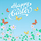Floral Happy Easter - GraphicRiver Item for Sale