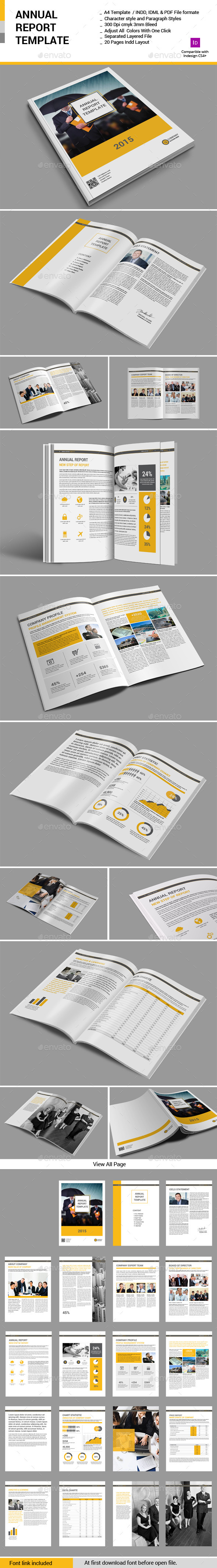 GraphicRiver Annual Report Template 10940307