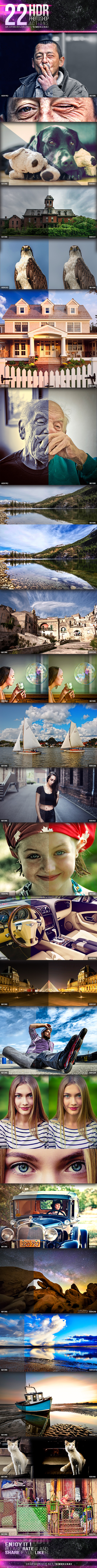 GraphicRiver 22 HDR Photoshop Actions V2 10940400