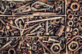 Set of old fastening elements in vintage style as a background  - PhotoDune Item for Sale