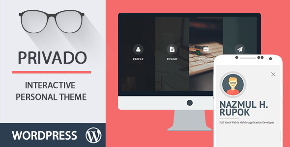 Privado - Interactive Personal WordPress Theme