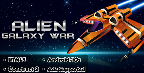 Alien Galaxy War - HTML5 Android (CAPX)