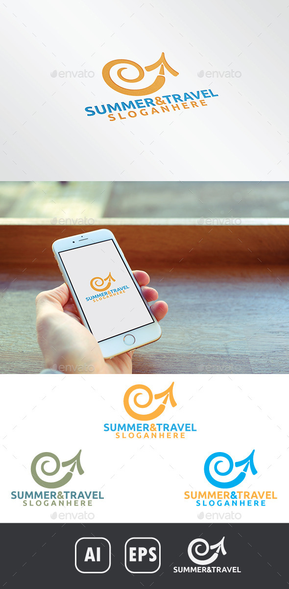 GraphicRiver Summer and Travel Logo 10940677