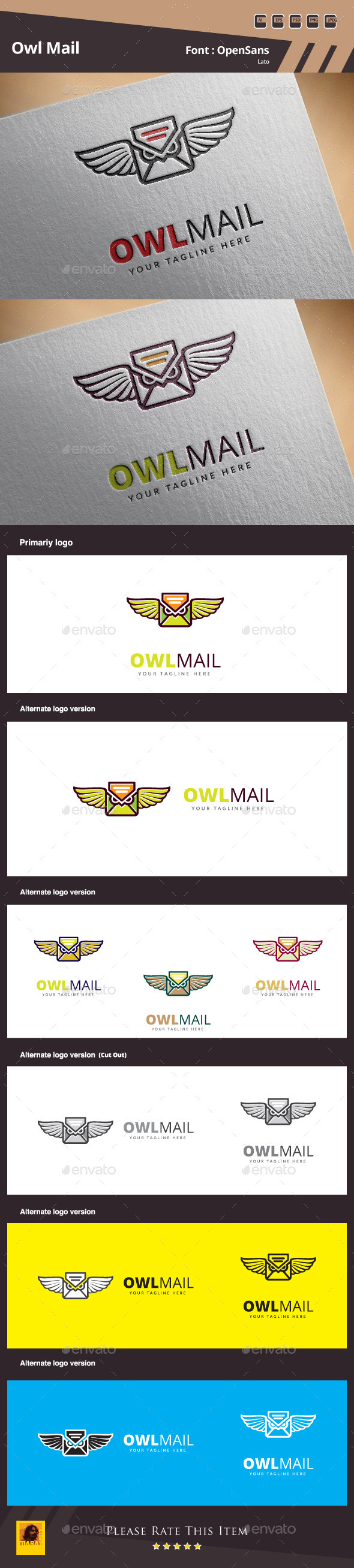 GraphicRiver Owl Mail Logo Template 10940681