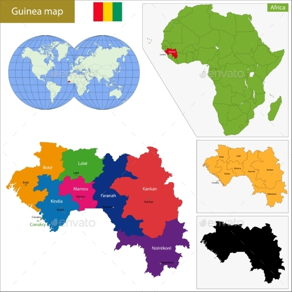GraphicRiver Guinea Map 10940885