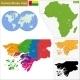 Guinea-Bissau Map - GraphicRiver Item for Sale