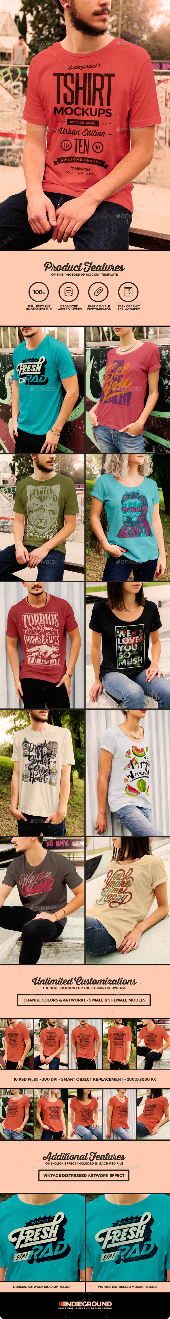 GraphicRiver Urban T-Shirt Mockups 10940969