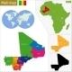 Mali Map - GraphicRiver Item for Sale