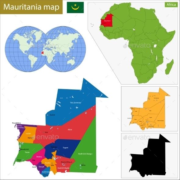 GraphicRiver Mauritania Map 10940977