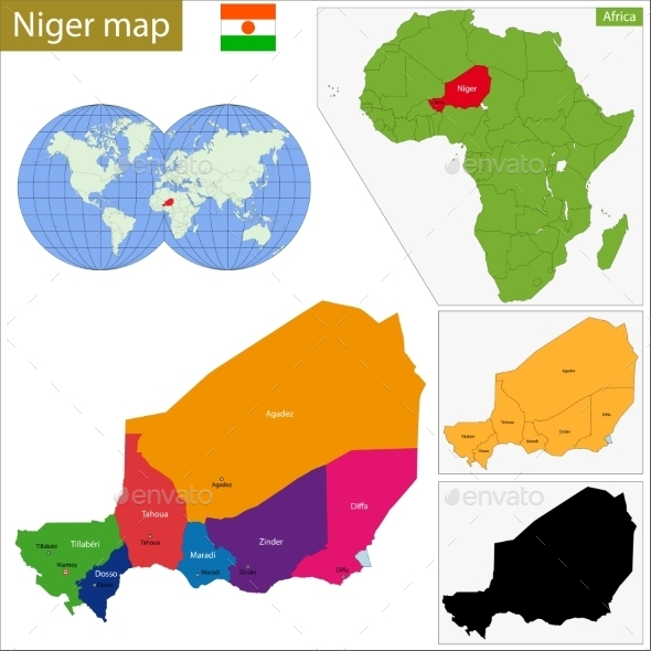 GraphicRiver Niger Map 10940983