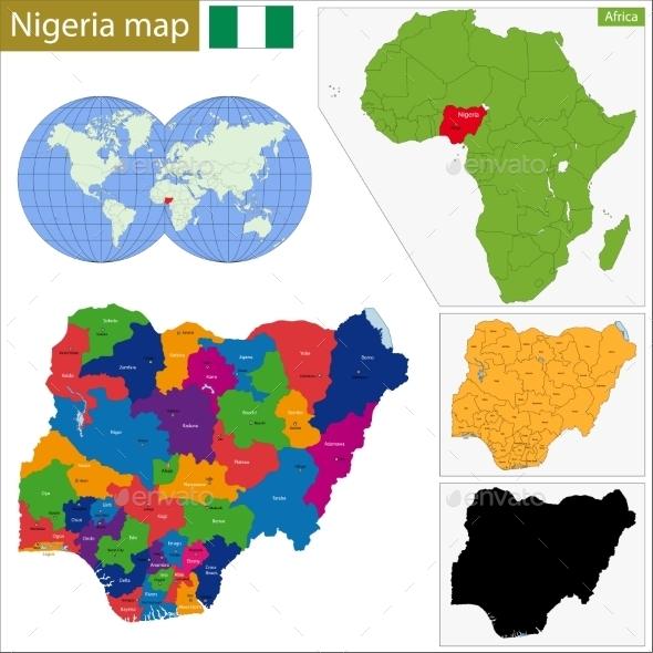 GraphicRiver Nigeria Map 10940995