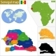 Senegal Map - GraphicRiver Item for Sale