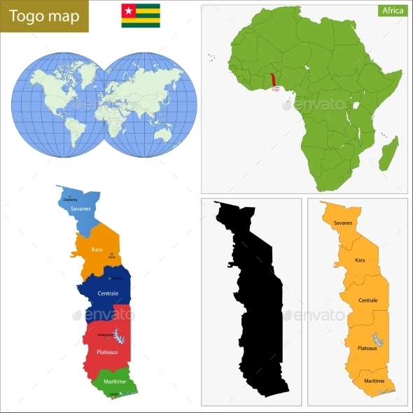 GraphicRiver Togo Map 10941087