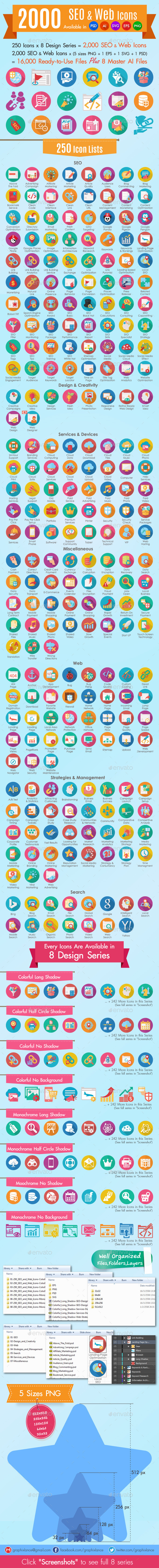 GraphicRiver 2000 SEO and Web Icons 10906826