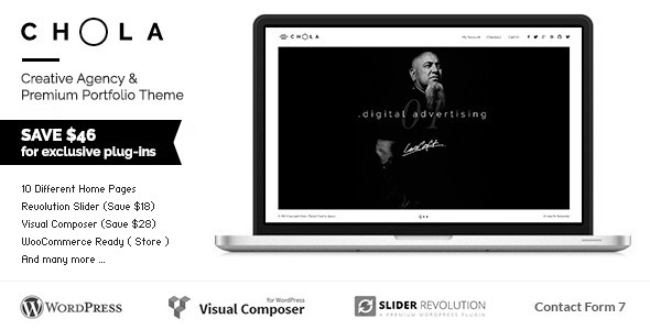 ThemeForest CHOLA Creative Agency & Premium Portfolio Theme 10750650