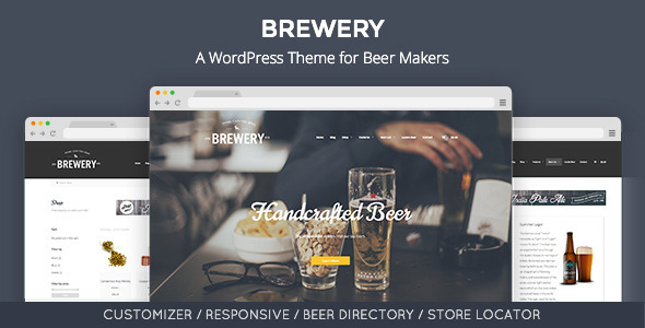 ThemeForest Brewery A WordPress Theme for Beer Makers 10941216