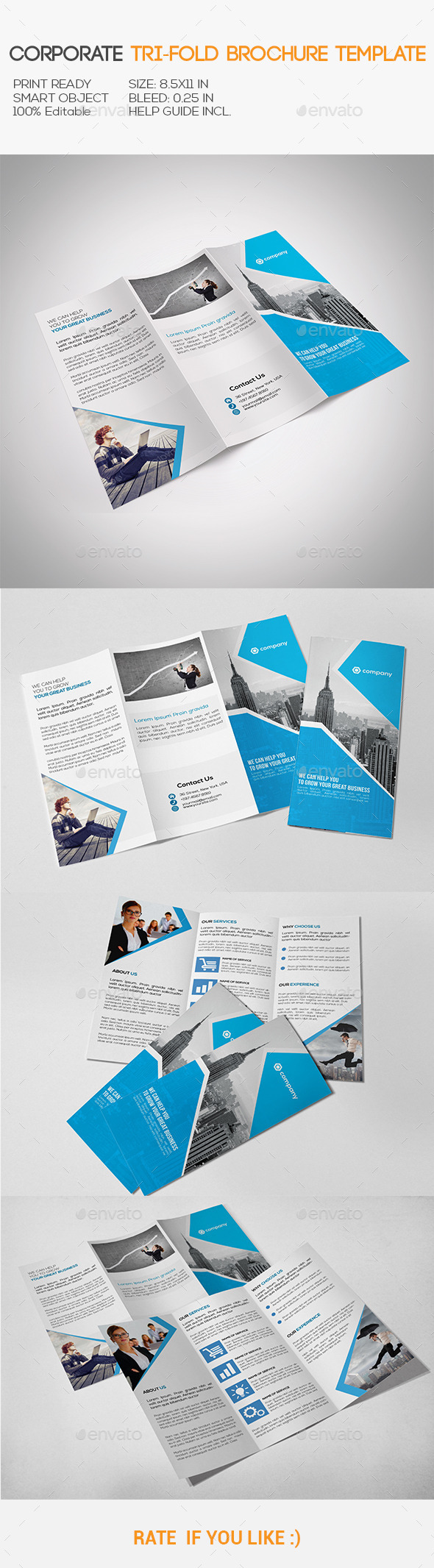 GraphicRiver Corporate Tri-Fold Brochure 10941559