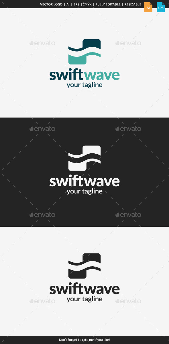 GraphicRiver Swift Wave Logo 10941726
