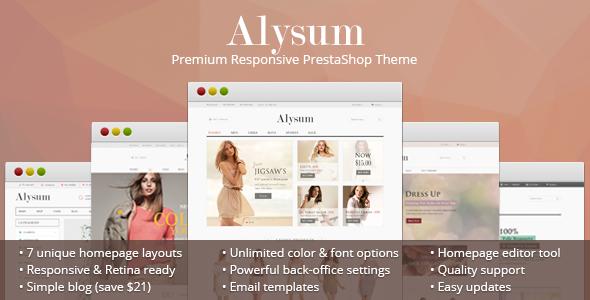 2. Alysum - Premium Responsive PrestaShop 1.6 Theme
