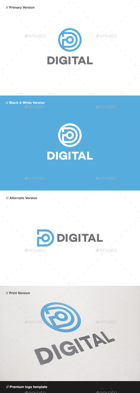 GraphicRiver Digital Letter D Logo 10941846
