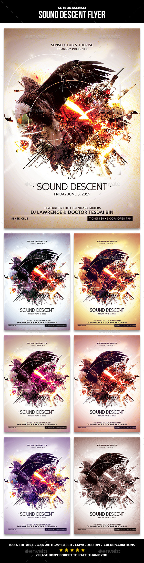 GraphicRiver Sound Descent Flyer 10941867