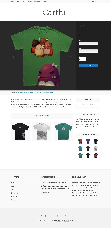 Shirt design wordpress plugin - Cartful Ecommerce Wordpress Theme For Cart66