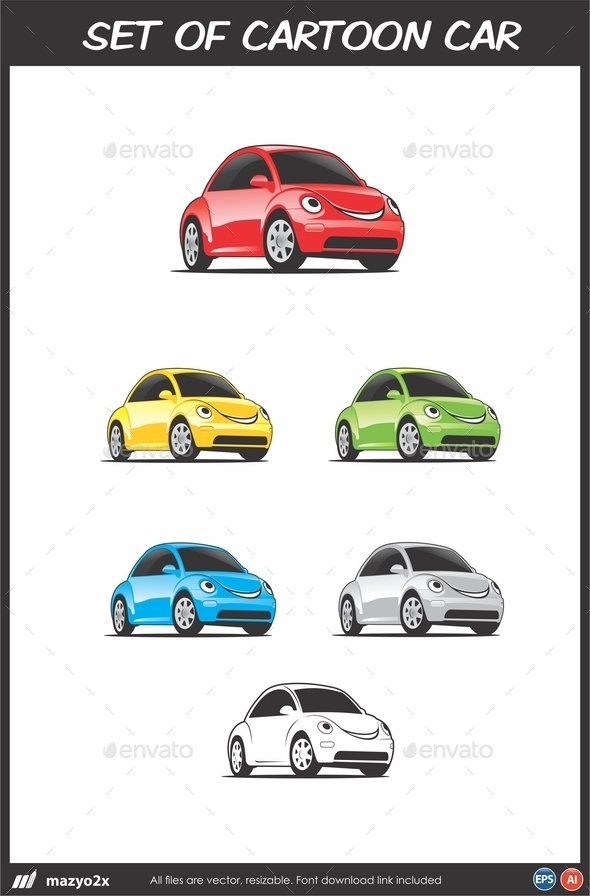 GraphicRiver Cartoon Car Vector 10941901