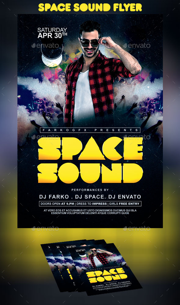 GraphicRiver Space Sound Flyer 10941907