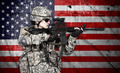 soldier holding rifle - PhotoDune Item for Sale