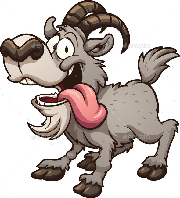 GraphicRiver Cartoon Goat 10942137