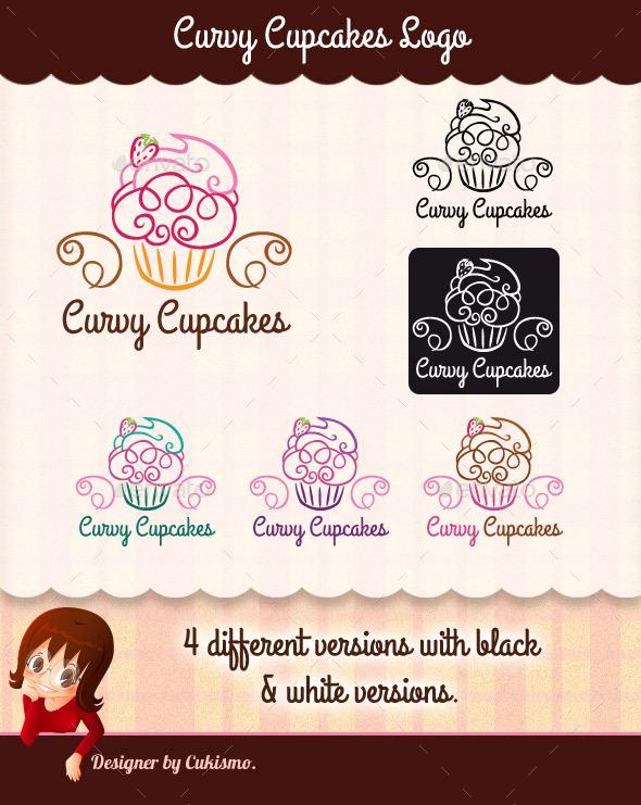 GraphicRiver Curvy Cupcakes Logo 10942139