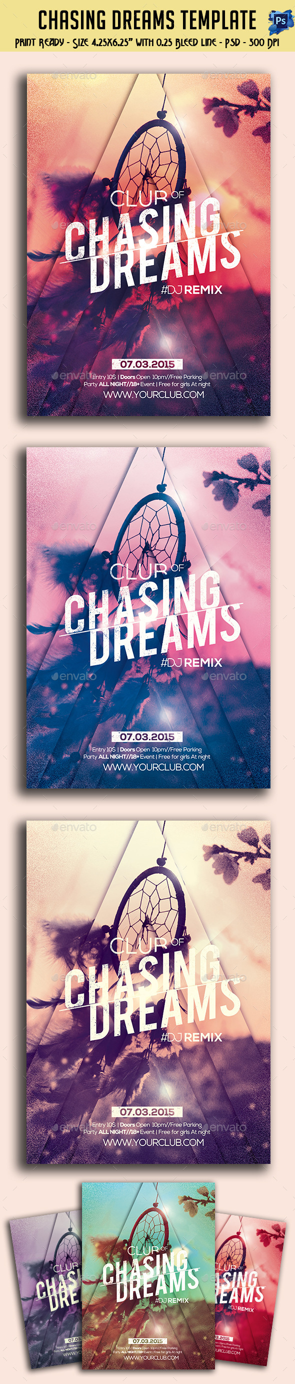 GraphicRiver Chasing Dreams Party Flyer 10942515