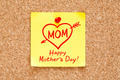 Happy Mothers Day Concept Sticky Note - PhotoDune Item for Sale