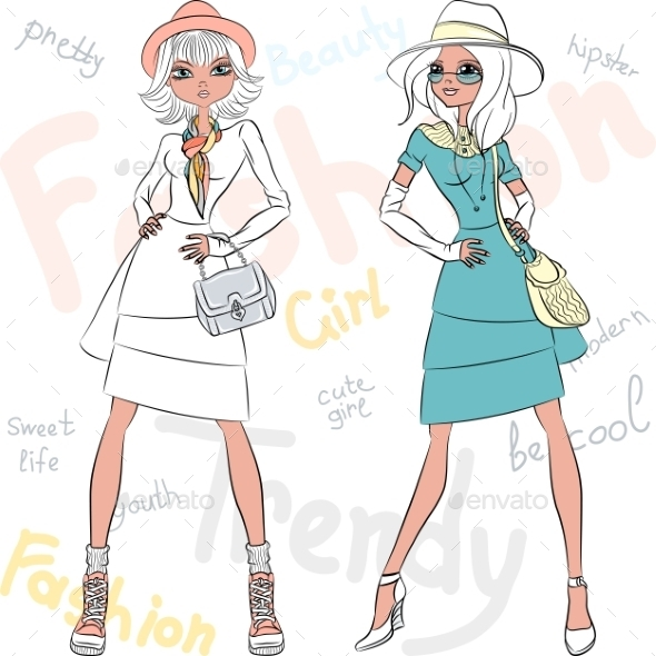 GraphicRiver Fashion Girls 10942577